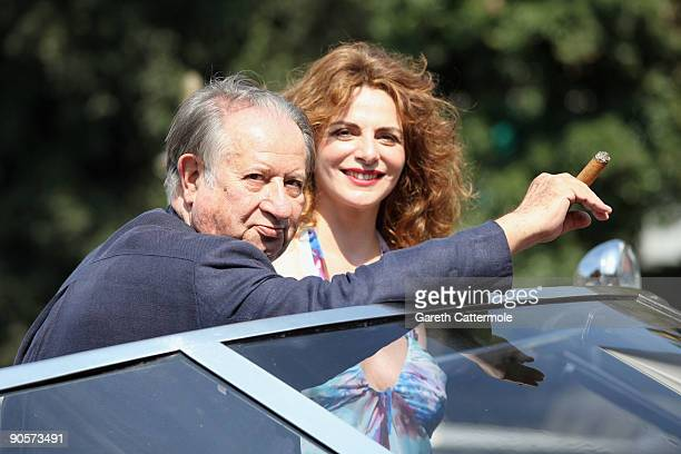 Director Tinto Brass and actress Caterina Varzi are seen during the 66th Venice Film Festival on September 10, 2009 in Venice, Italy.
