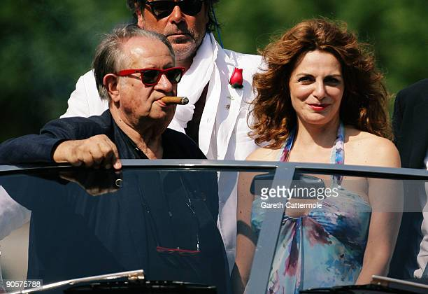 Director Tinto Brass and actress Caterina Varzi is seen during the 66th Venice Film Festival on September 10, 2009 in Venice, Italy.