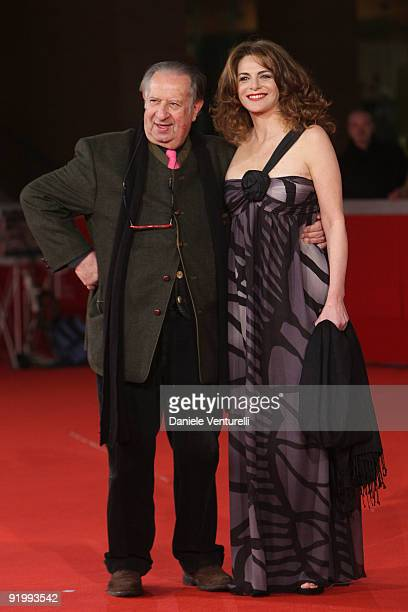 "Director Tinto Brass and Caterina Varzi attend the ""Christine, Cristina"" Premiere during day 5 of the 4th Rome International Film Festival held at..."