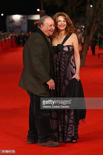 Director Tinto Brass and Caterina Varzi attend the 'Christine, Cristina' Premiere during day 5 of the 4th Rome International Film Festival held at...