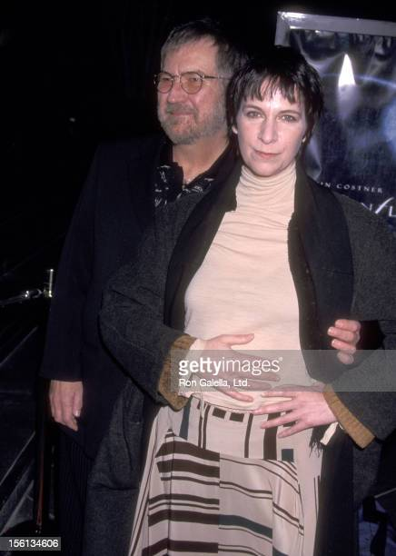 Director Tobe Hooper and Actress Amanda Plummer attend the 'Dragonfly' Los Angeles Premiere on February 18 2002 at DGA Theatre in Los Angeles...