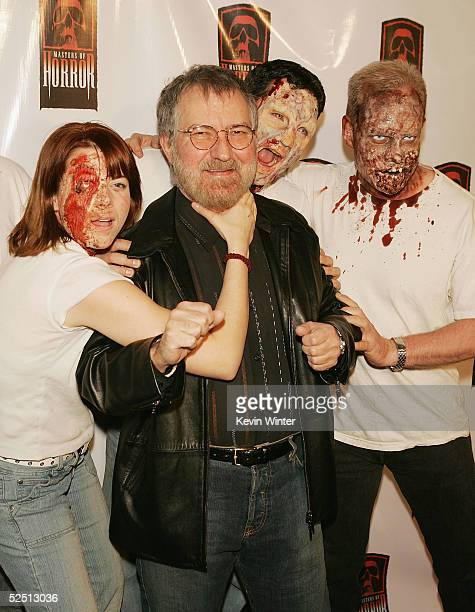 Director Tobe Hooper arrives at a party to celebrate Showtime's series 'Masters of Horror' at Element on March 30 2005 in Los Angeles California