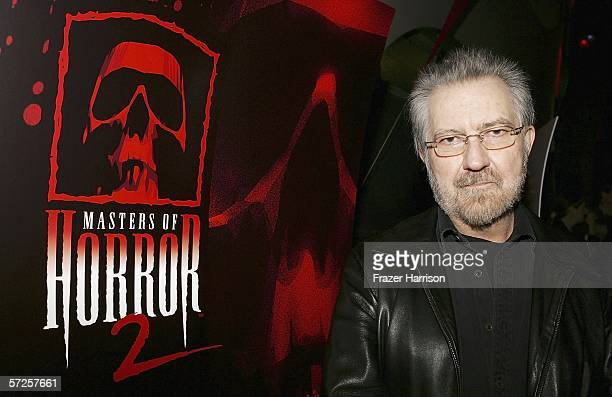 Director Tobe Hooper arrives at the Launch Party For Showtime's 'Masters Of Horror' held at Ivar Club on April 5 2006 in Hollywood California