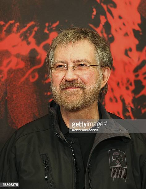 Director Tobe Hooper poses during a photcall of the movie 'Masters of Horror' at a Tokyo hotel on February 21 2006 in Tokyo Japan