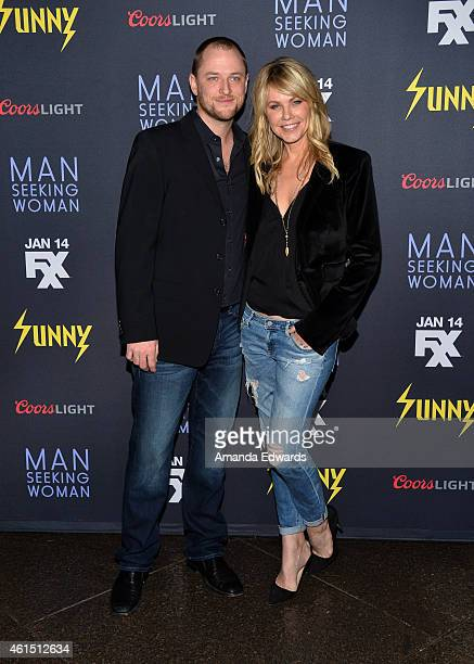 """Director Todd Biermann and Andrea Roth arrive at the Red Carpet Premiere of FXX's """"It's Always Sunny In Philadelphia"""" and """"Man Seeking Woman"""" at the..."""