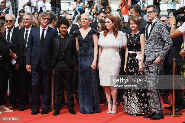 Director Todd Haynes actor Jaden Michael actresses Michelle Williams Julianne Moore Millicent Simmonds and Screenwriter Brian Selznick attend the...