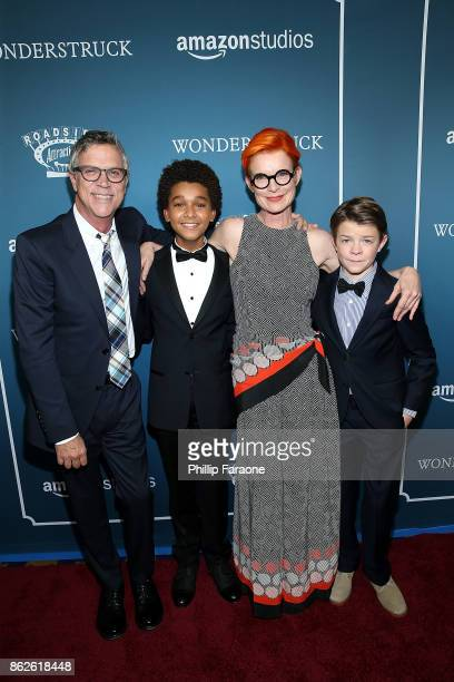 Director Todd Haynes actor Jaden Michael costume designer and executive producer Sandy Powell and actor Oakes Fegley attend the premiere of Roadside...