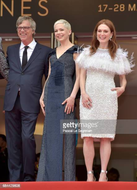 Director Todd Haynes actresses Michelle Williams and Julianne Moore attend the 'Wonderstruck' screening during the 70th annual Cannes Film Festival...