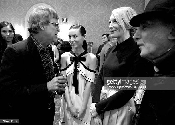 Director Todd Haynes actresses Rooney Mara and Cate Blanchett attend the BAFTA Los Angeles Awards Season Tea at Four Seasons Hotel Los Angeles at...