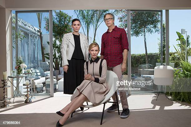 Director Todd Haynes and actress Cate Blanchett and Rooney Mara are photographed are for The Hollywood Reporter on May 15 2015 in Cannes France
