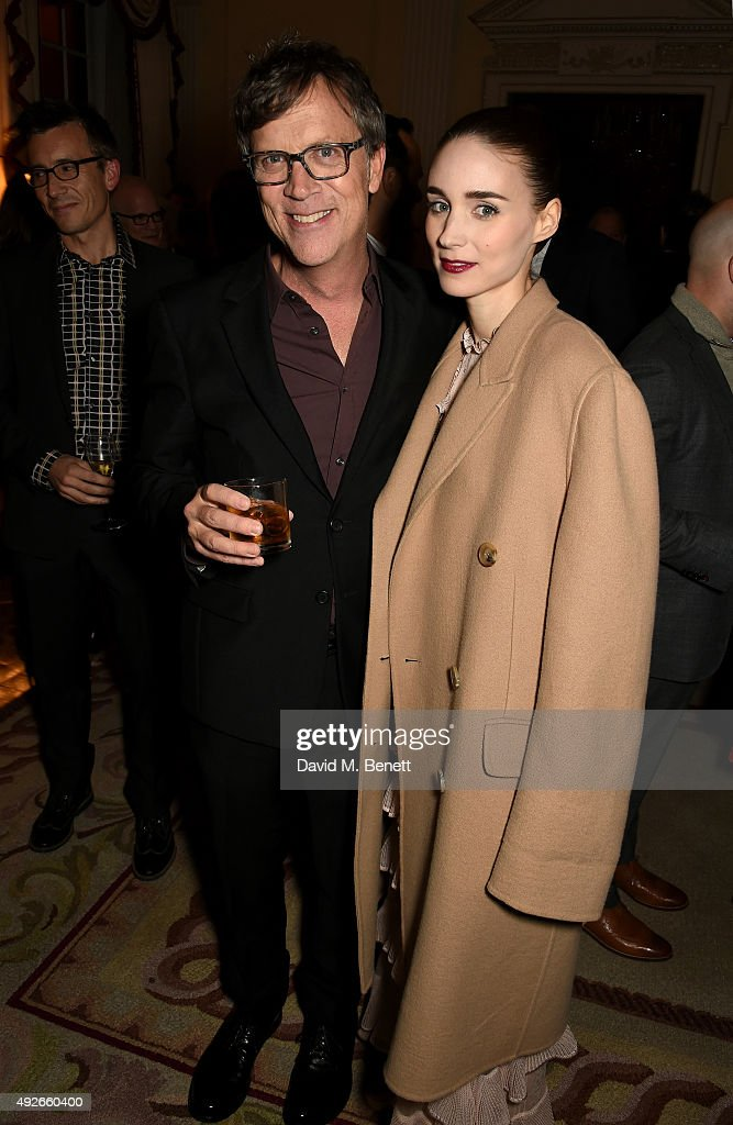 Director Todd Haynes and actress Rooney Mara attend The Academy Of Motion Pictures Arts & Sciences new members reception hosted by Ambassador Matthew Barzun and Mrs Brooke Barzun at the American Ambassadors Residence, Winfield House, Regents Park on October 14, 2015 in London, England.