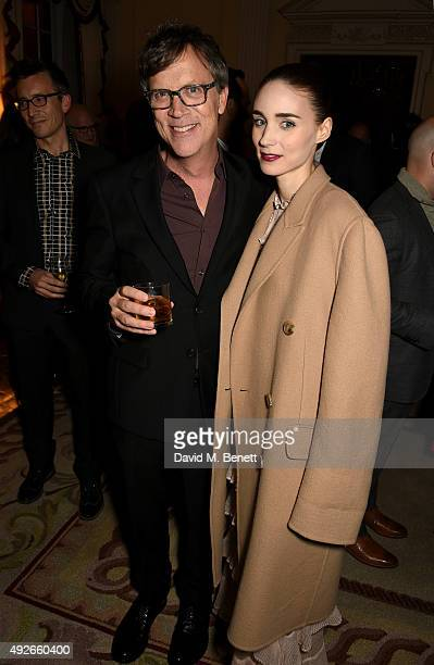 Director Todd Haynes and actress Rooney Mara attend The Academy Of Motion Pictures Arts Sciences new members reception hosted by Ambassador Matthew...