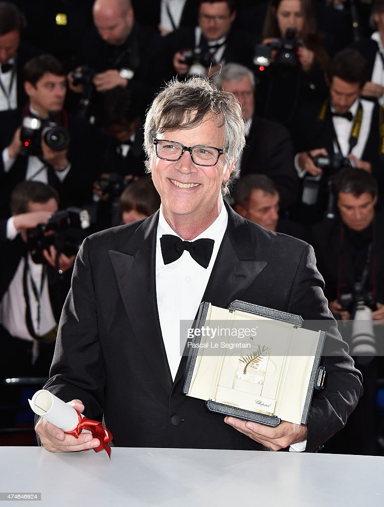 Director Todd Haynes poses with the Best Actress Prize on behalf of winner Rooney Mara for her role in the film 'Carol' at a photocall for the winners of the Palm D'Or during the 68th annual Cannes Film Festival on May 24, 2015 in Cannes, France.