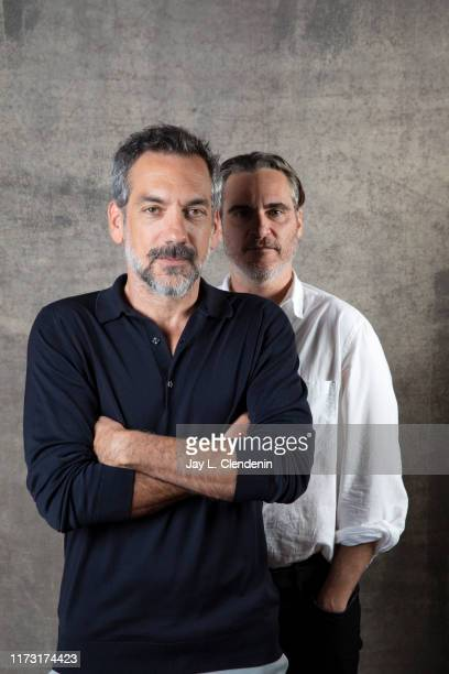 Director Todd Phillips and actor Joaquin Phoenix from 'Joker' are photographed for Los Angeles Times on September 9 2019 at the Toronto International...