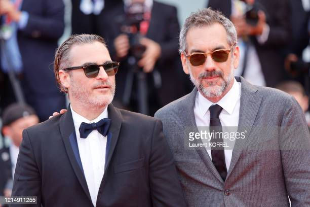Director Todd Phillips and Joaquin Phoenix walks the red carpet ahead of the closing ceremony of the 76th Venice Film Festival at Sala Grande on...