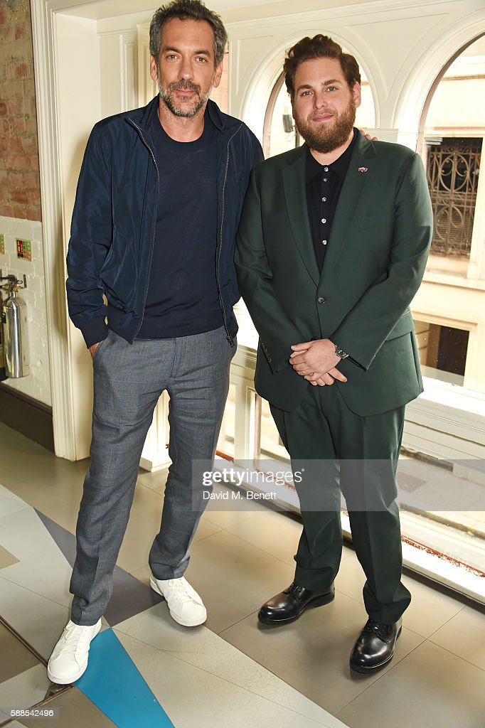 Director Todd Phillips (L) and Jonah Hill attend a special screening of 'War Dogs' at Picturehouse Central on August 11, 2016 in London, England.