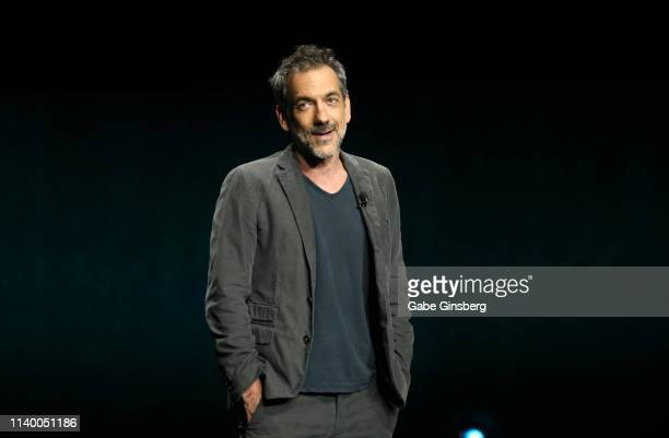 Director Todd Phillips speaks during Warner Bros Pictures The Big Picture exclusive presentation during CinemaCon at The Colosseum at Caesars Palace...