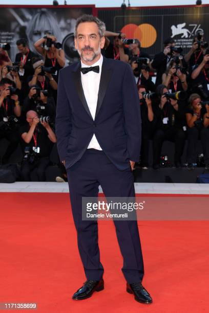 Director Todd Phillips walks the red carpet ahead of the Joker screening during the 76th Venice Film Festival at Sala Grande on August 31 2019 in...