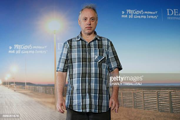 Director Todd Solondz poses during a photocall to present the movie Le Teckel on September 4 2016 in the French northwestern sea resort of Deauville...