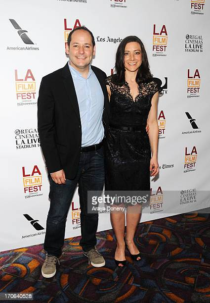 Director Tom Donahue and Editor Jill Schweitzer arrive at the Casting By Conversations Panel during the 2013 Los Angeles Film Festival at American...