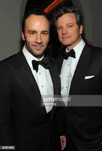 """Director Tom Ford and actor Colin Firth attend the AFI closing night party for Tom Ford and The Weinstein Company's """"A SINGLE MAN"""" at Chateau Marmont..."""