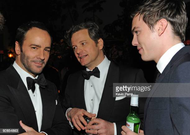 """Director Tom Ford and actors Colin Firth and Nicholas Hoult attend the AFI closing night party for Tom Ford and The Weinstein Company's """"A SINGLE..."""
