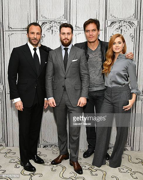 Director Tom Ford and cast members Aaron Taylor Johnson Michael Shannon and Amy Adams visit the Build Series to discuss their film 'Nocturnal...