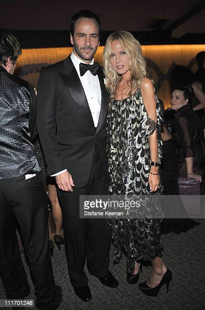 Director Tom Ford and stylist Rachel Zoe attend the Weinstein Company Golden Globes after party cohosted by Martini held at BAR 210 at The Beverly...