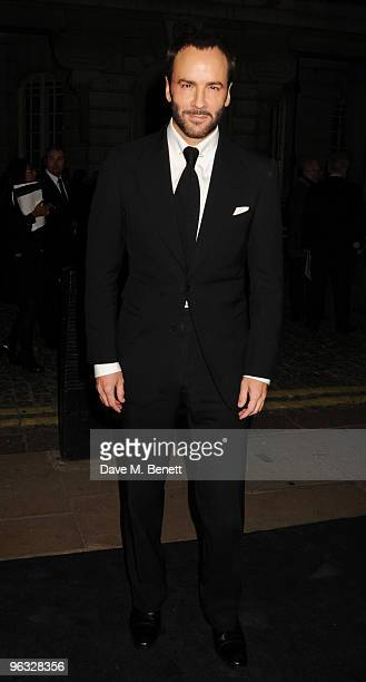Director Tom Ford arrives at the UK film premiere of 'A Single Man' at the Curzon Cinema Mayfair on February 1 2010 in London England