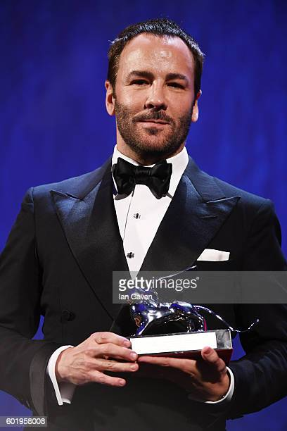 Director Tom Ford poses with the Silver Lion for Grand Jury Prize for 'Nocturnal Animals' during the closing ceremony of the 73rd Venice Film...