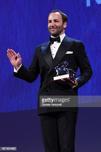 Director Tom Ford receives the Silver Lion for Grand Jury Prize for 'Nocturnal Animals' during the closing ceremony of the 73rd Venice Film Festival...
