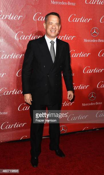 Director Tom Hanks arrives at the 25th Annual Palm Springs International Film Festival Awards Gala at Palm Springs Convention Center on January 4...