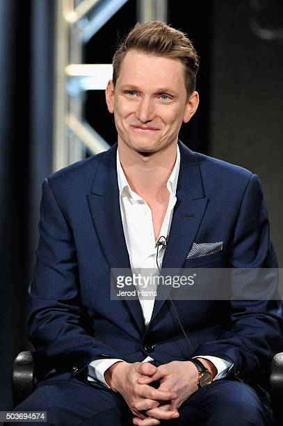 Director Tom Harper speask onstage during the War and Peace panel at the AE Networks 2016 Television Critics Association Press Tour at The Langham...