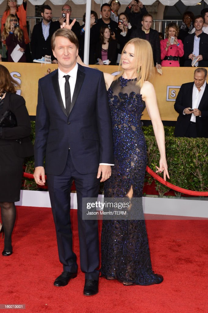 Director Tom Hooper and actress Nicole Kidman attend the 19th Annual Screen Actors Guild Awards at The Shrine Auditorium on January 27, 2013 in Los Angeles, California. (Photo by Jason Merritt/WireImage) 23116_014_2419.jpg