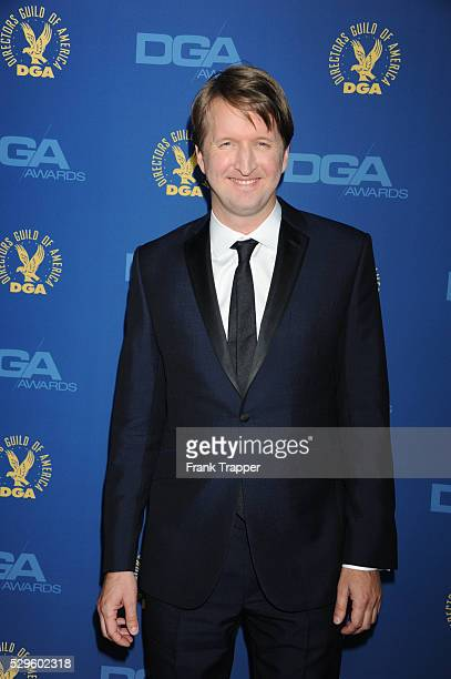 Director Tom Hooper arrives at the 65th Annual Directors Guild Awards held at the Ray Dolby Ballroom at Hollywood Highland