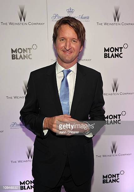 Director Tom Hooper arrives at the Montblanc Cocktail Party cohosted by Harvey and Bob Weinstein celebrating the Weinstein Company's Academy Award...