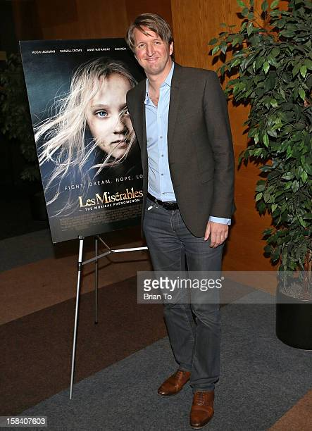 Director Tom Hooper attends SAG special screening and QA of 'Les Miserables' at Writers Guild Theater on December 15 2012 in Beverly Hills California