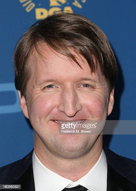 Director Tom Hooper attends the 65th Annual Directors Guild Of America Awards at Ray Dolby Ballroom at Hollywood Highland on February 2 2013 in Los...