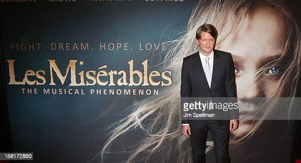 Director Tom Hooper attends the 'Les Miserables' New York premiere at Ziegfeld Theatre on December 10 2012 in New York City