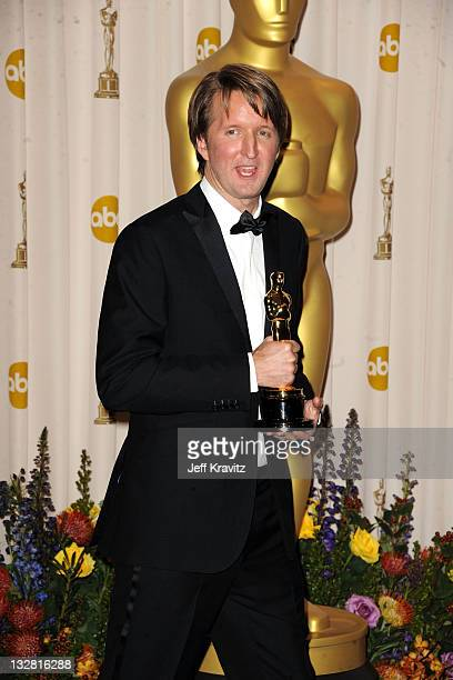 Director Tom Hooper poses in the press room during the 83rd Annual Academy Awards held at the Kodak Theatre on February 27 2011 in Los Angeles...