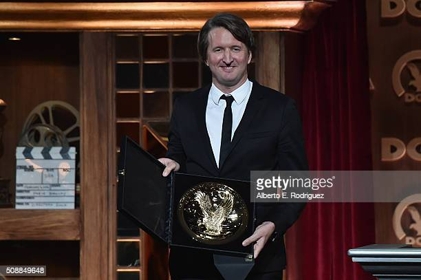 Director Tom Hooper presents the award for Outstanding Directorial Achievement in Feature Film onstage at the 68th Annual Directors Guild Of America...