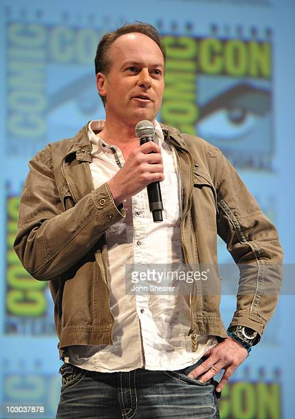 """Director Tom McGrath speaks at the """"Megamind"""" panel during Comic-Con 2010 at San Diego Convention Center on July 22, 2010 in San Diego, California."""