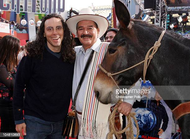 Director Tom Shadyac and Juan Valdez during The World Premiere of Bruce Almighty at Universal Amphitheatre in Universal City California United States