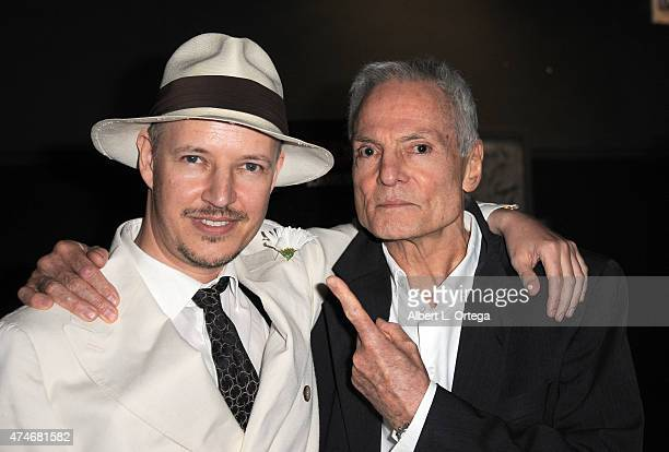 Director Tom Six and actor Dieter Laser arrive for the Premiere Of IFC Midnight's The Human Centepede 3 held at TCL Chinese 6 Theatres on May 18 2015...