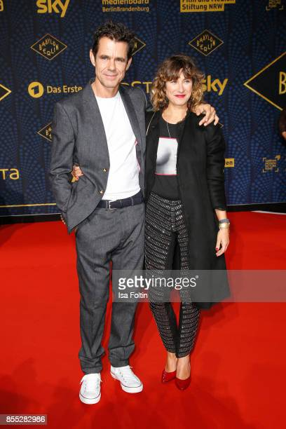Director Tom Tykwer and his wife Marie Steinmann attend the 'Babylon Berlin' Premiere at Berlin Ensemble on September 28 2017 in Berlin Germany