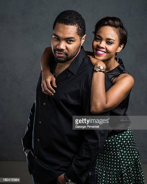 Director Tommy Oliver and Actress Sharon Leal of '1982' pose at the Guess Portrait Studio during 2013 Toronto International Film Festival on...