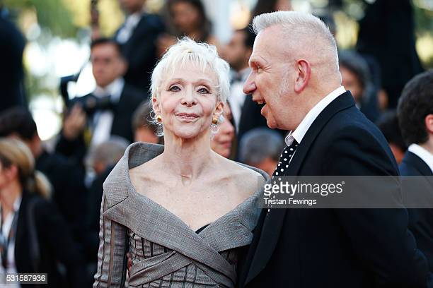 Director Tonie Marshall and Jean Paul Gaultier attend the 'From The Land Of The Moon ' premiere during the 69th annual Cannes Film Festival at the...