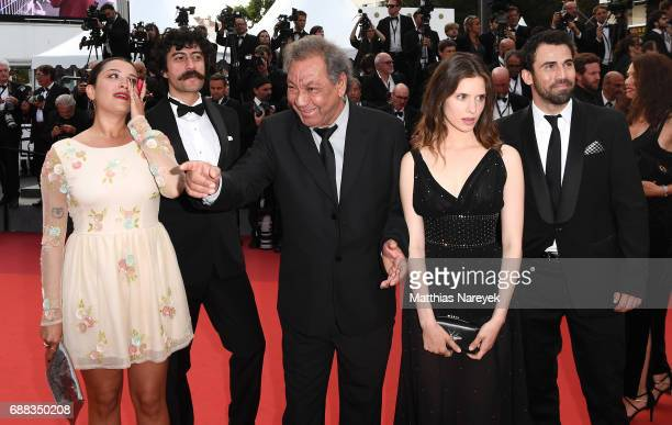 Director Tony Gatlif and actress Daphne Patakia attend the 'Twin Peaks' screening during the 70th annual Cannes Film Festival at Palais des Festivals...