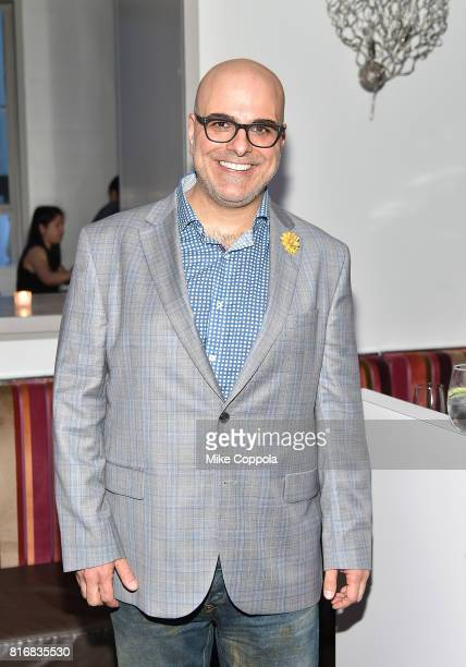 Director Tony Leondis attends the Saks Fifth Avenue window unveiling with the cast of 'The Emoji Movie' at Saks Fifth Avenue on July 17 2017 in New...