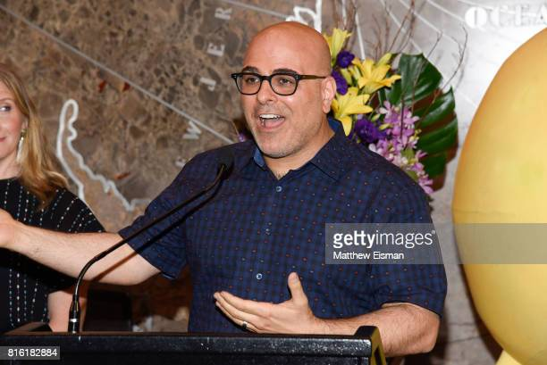 Director Tony Leondis poses for a photo to celebrate World Emoji Day at The Empire State Building on July 17 2017 in New York City